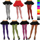 Women Fashion Sexy Black Horizontal Stripes Pattern Pantyhose Stockings Tights