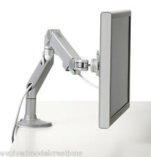 NEW Humanscale M8 Monitor Arm Silver / Grey CLAMP & BOLT MOUNTS