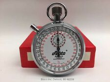 7 Jewel Mechanical Stopwatch Swiss Made NEW IN BOX 1/10 Second