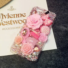 New Fashion 3D Bling pink lips DIY Cell Phone iPhone4 Case - Deco Den Kit
