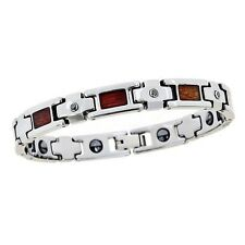 Tungsten Carbide Wood Inlay Diamond Bracelet  OUR EXCLUSIVE   FOR Men & Women