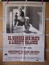 A1987  EL HOMBRE QUE MATO A LIBERTY VALANCE -JAMES STEWART - JOHN WAYNE - DE JOH