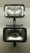 Vintage Chopper - Dual Rectangular Headlight w/ Paughco Bracket