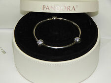 "New Pandora USB791119 Bangle Bracelet Gift Set You're A Star 7.5"" Box Included"