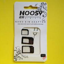 BLACK iPhone/iPad NANO MICRO MINI SIM Card Adapter Converter Standard Adaptor