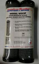 NEW American Plumber W5CIP 5 Micron Standard 10 Inch Undersink Filter (2 Pack)