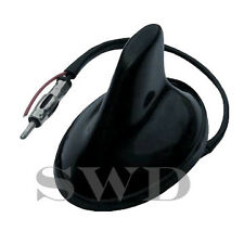 Small Black Shark Aero Fin Car Antenna Working Aerial 12v Amplified FUNCTIONING