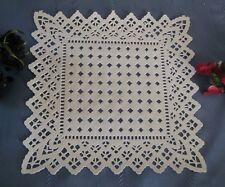 "10"" INCH SQUARE WHITE PAPER LACE DOILY GERMANY 20 PCS ELEGANT WEDDING ENVELOPE"