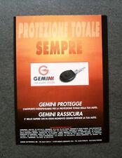 [GCG] L407- Advertising Pubblicità - GEMINI PROTEZIONE TOTALE , CAR ALARM SYSTEM