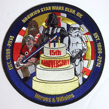 "Norwich Star Wars Club UK 15th Anniversary Giant 6"" Patch-FREE S&H (SWPA-C-626)"