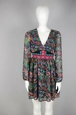 FLYING TOMATO Sz M [G61] New Embroidered Empire Waist Paisley Boho Dress