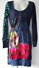 New Desigual Ladies Dress 'EMOTIONS' Navy&Multi, Size S