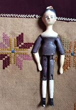 Antique Late 1800s - Early 1900s Wooden Peg Doll
