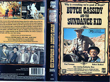 BUTCH CASSIDY and the SUNDANCE KID - Newman & Redford - VHS - PAL - New & Sealed