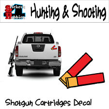 Hunting Shooting Shotgun Cartridges Shells Decal Sticker x1