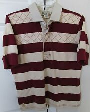 Ralph Lauren 2004 Boys Rugby Shirt Size Youth Large White Maroon