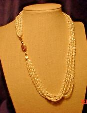 6-strand Fresh-water Pearl Necklace & Matching Earrings, Quality Pearl,Versatile