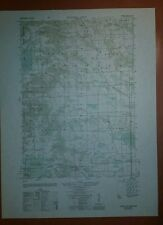 1940's Army Topo Map Tunnel City Wisconsin  2872 II SE Camp McCoy