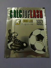 "BUSTINA FIGURINE EUROFLASH CALCIO FLASH 92  PIENA SIGILLATA ""RARA"" NEW- FIO"
