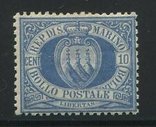 Italy / San Marino Stamp   SC #7a  Mint and Hinged  CV $1100.00  Blue Arms