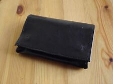 Closeout Black Leather Tobacco Pouch