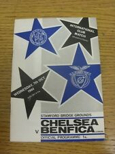 07/10/1964 Chelsea v Benfica [Charity Match] (Creased, slight marked corner). Co