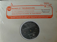 MOINES & TROUBADOURS / SCHOLA CANTORUM de LONDRES, D Stevens - LP French HM 441