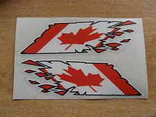 """Canada / Canadian Flag  """"ripped"""" style stickers - 150mm decals x2"""