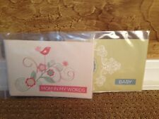 CREATIVE MEMORIES Simply Said Book Mini Album Set of 2 Mom in My Words & Baby