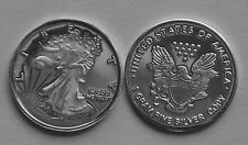 (10) 1 Gram .999 Pure Silver Round Walking Liberty Design