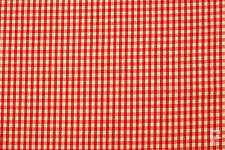 GINGHAM POLYCOTTON FABRIC (CORDED) - 1/4 INCH SQUARE CHECK - WIDTH 114 CM