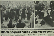 Poll Tax Police Brutal Assault Whitehall London 1990 Newspaper Page Article 6093
