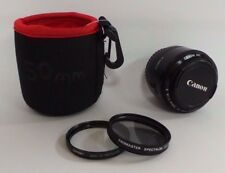 Canon EF 50mm f/1.8 II Camera Lens Bundle W/ Soft Case, Lens Cap and Filters