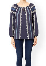 MONSOON Blue Monty Embroidered Blouse BNWT