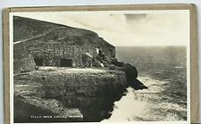 Tilly Whim Caves Swanage Black & White Postcard