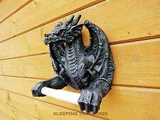 INCREDIBLE BLACK DRAGON TOILET ROLL HOLDER. Great Design & Very Different!!