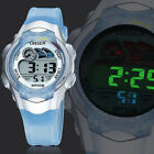 New OHSEN Digital Alarm Stop Blue LED Light Children Boys Sport Watch Waterproof