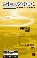 Sea-Doo Owners Manual Book 2003 SPORTSTER LT & SPORTSTER LE