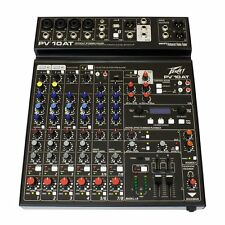 Peavey PV-10AT 10-Input Stereo Mixer w/ Built-in Antares Auto-Tune & Bluetooth