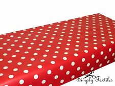 Polka Dots Spots - Wipe Clean PVC Tablecloth Oilcloth Vinyl Multiple Sizes