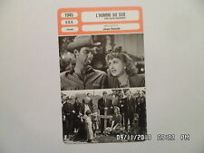 CARTE FICHE CINEMA 1945 L'HOMME DU SUD Zachary Scott Betty Field J Carrol Naish