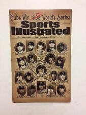 Chicago Cubs 2016 World Series Champions Sports Illustrated Roster Poster Cubbie
