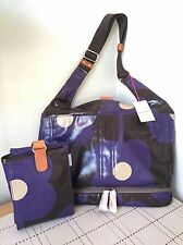 ORLA KIELY ETC ABACAS FLOWER GRAPE BABY BAG AND CHANGING MAT BNWT RARE