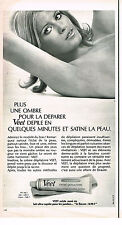 PUBLICITE ADVERTISING 064  1970  VEET   creme dépilatoire