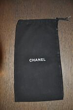 "Chanel Black Travel Dust Bags 14""x8"""