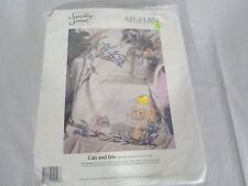 Unopened Something Special Counted Cross Stitch Afghan Kit Cats and Iris #50546