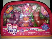 My Little Pony G3 Tea Party with SPRING FEVER & APPLEJACK Figure 2003