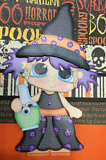 Potion Witch Halloween Premade Scrapbook Page Paper Piecing  2 - 12 x 12 pages
