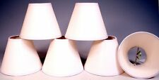 6 Candle Lamp CHANDELIER Shades  Clip on Bulb  WHITE PAPER - Can Be Decorated