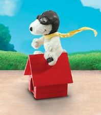 """SNOOPY FLYING ACE & RED DOG HOUSE Mohair 8"""" Peanuts Characters - NEW"""
